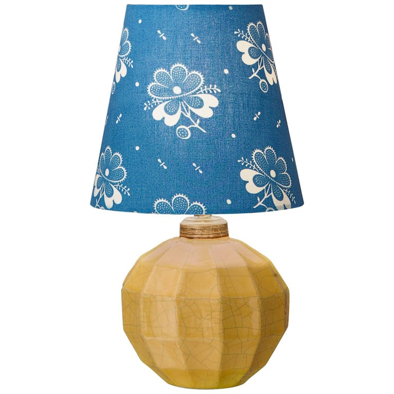 Vintage French Ceramic Table Lamp For Sale