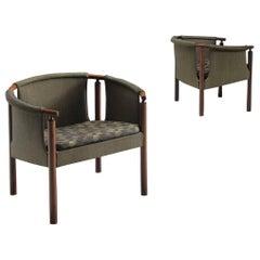 Arne Wahl Iversen Set of Rosewood Armchairs