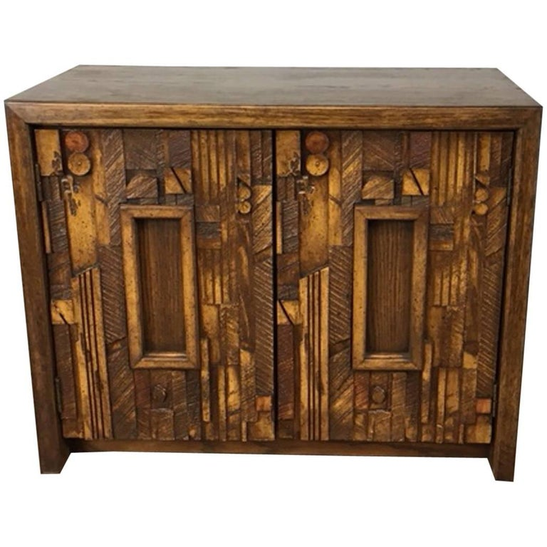 Brutalist Nightstand By Lane At 1stdibs