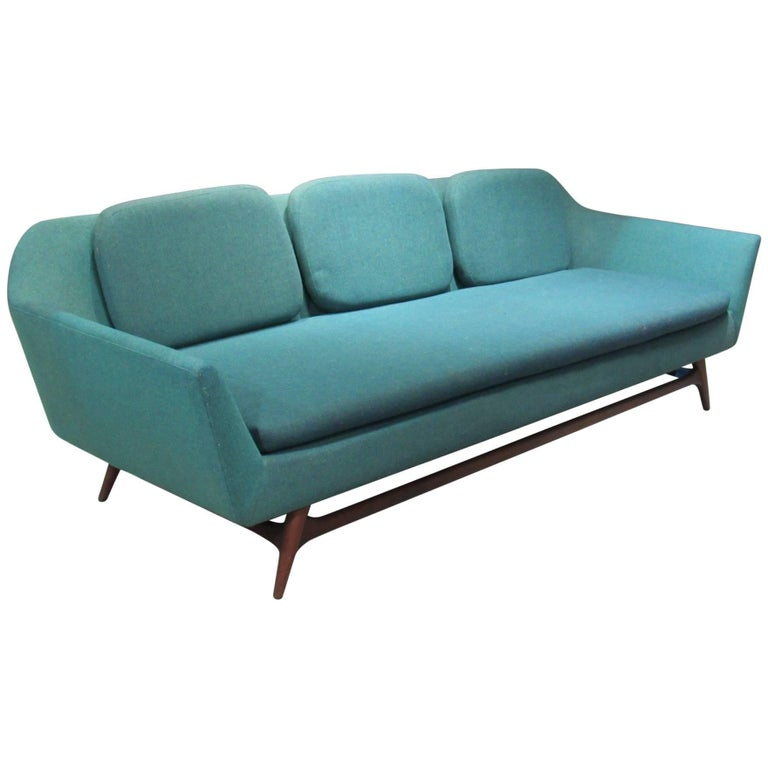 Extra long danish modern sofa for sale at 1stdibs for Long couches for sale