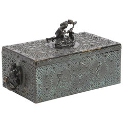 Bronze Chest from the Early 1900, Signed Friedrich Gornik, Austria, 1877-1943