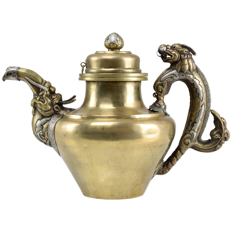 Antique Tibetan Dragon Teapot at 1stdibs