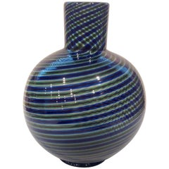 Signed Vibrant Murano Vase by Barovier and Toso