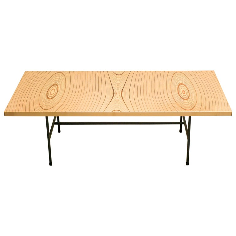Laminated Plywood Low Table by Tapio Wirkkala for Asko For Sale