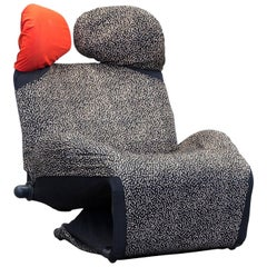 Cassina Wink Designer Armchair Fabric Black One Seat Couch Function Modern