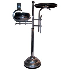 1930s Art Deco Chrome and Bakelite Smokers and Drinks Stand