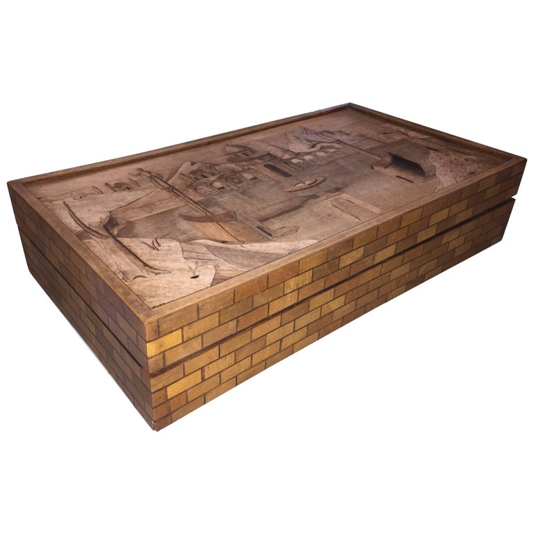 Intarsia Box by Enrico Bernardi For Sale