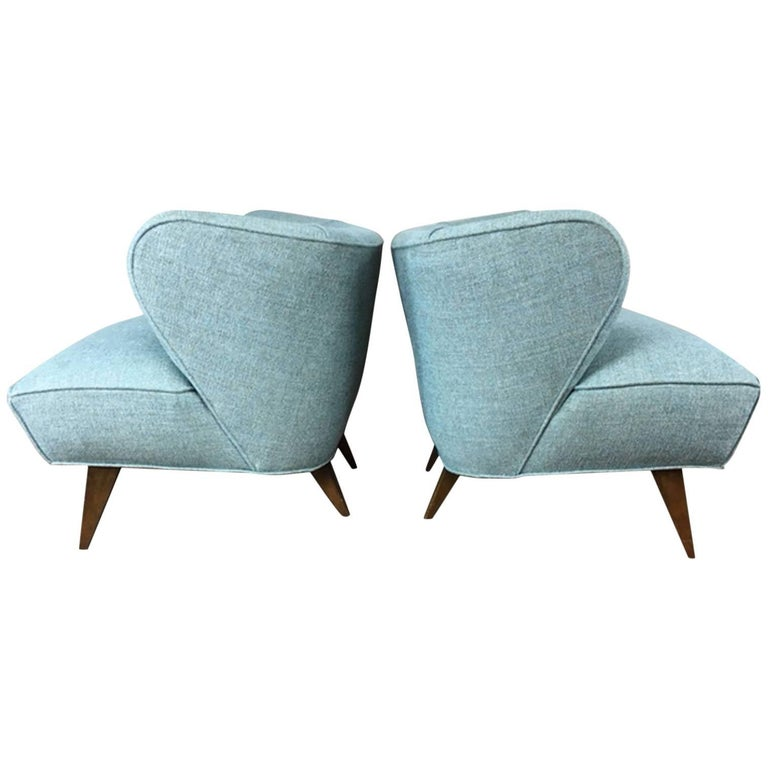 Low Profile Club Chair, Pair