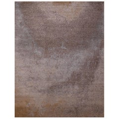 'Night Sky Light' Silk and Wool Twill Area Rug By Carini 9x12