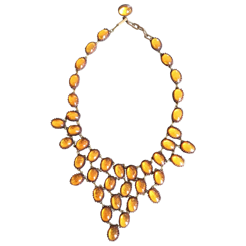 Honey Amber Talosel Necklace by Line Vautrin