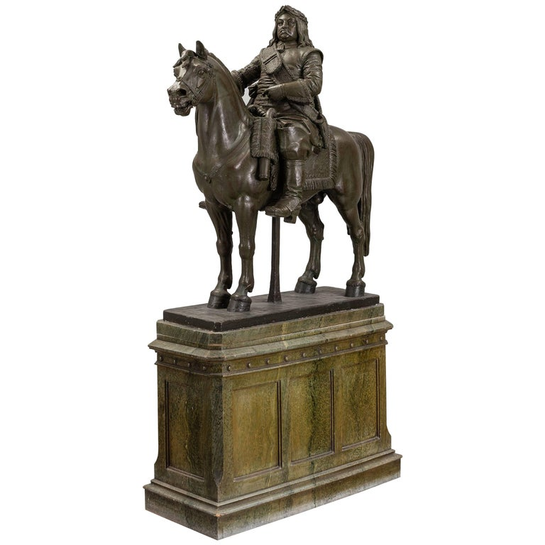 A Life Size Plaster Sculpture of Swedish King Karl X Gustaf, 19th Century   For Sale