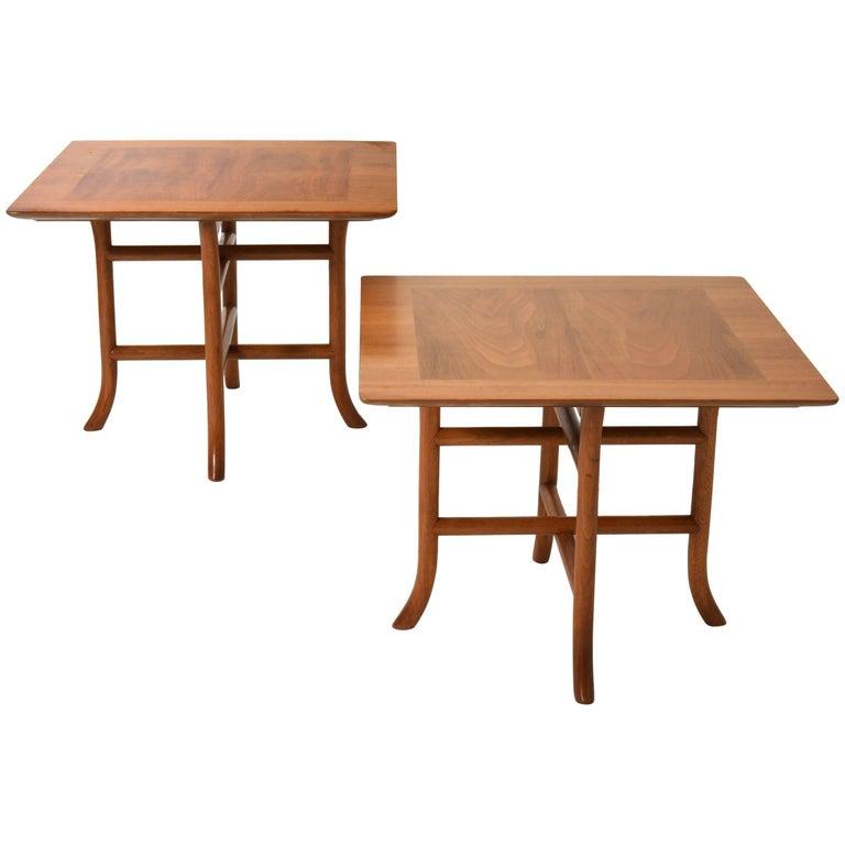 Pair of Sabre Leg Side Tables by T.H. Robsjohn-Gibbings for Widdicomb, 1950s