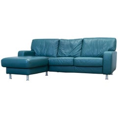 Koinor Designer Corner Sofa Leather Green Couch Modern