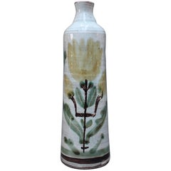 Ceramic Flower Vase by Gustave Reynaud/Le Mûrier, circa 1960s