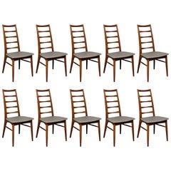 Niels Koefoed for Koefoed Hornslet, Set of Ten Danish Teak 'Lis' Dining Chairs