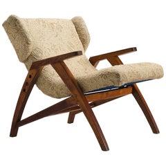 Midcentury Oak 'Her' Wingback Chair