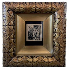 Leonard Silvestain Print in Exceptional Gilded Frame, 20th Century