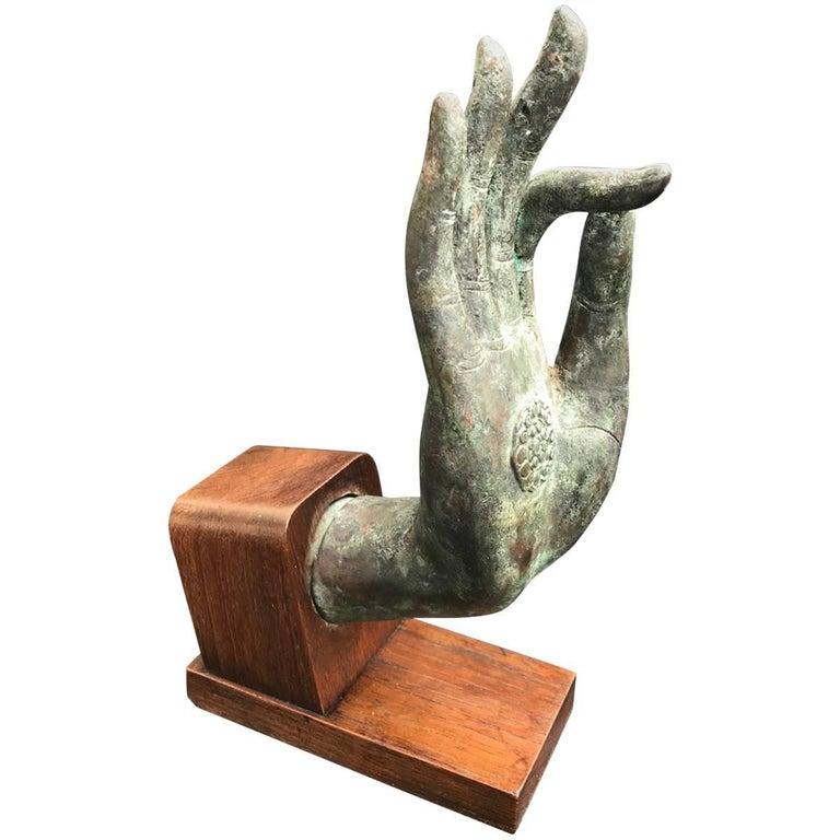 Bronze Hand of Buddha in the Vitarka Mudra, Thailand