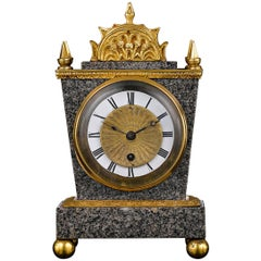 English Porphyry Clock by Ellicott