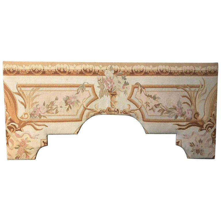 Aubusson Design Tapestry Covered Cornice Board
