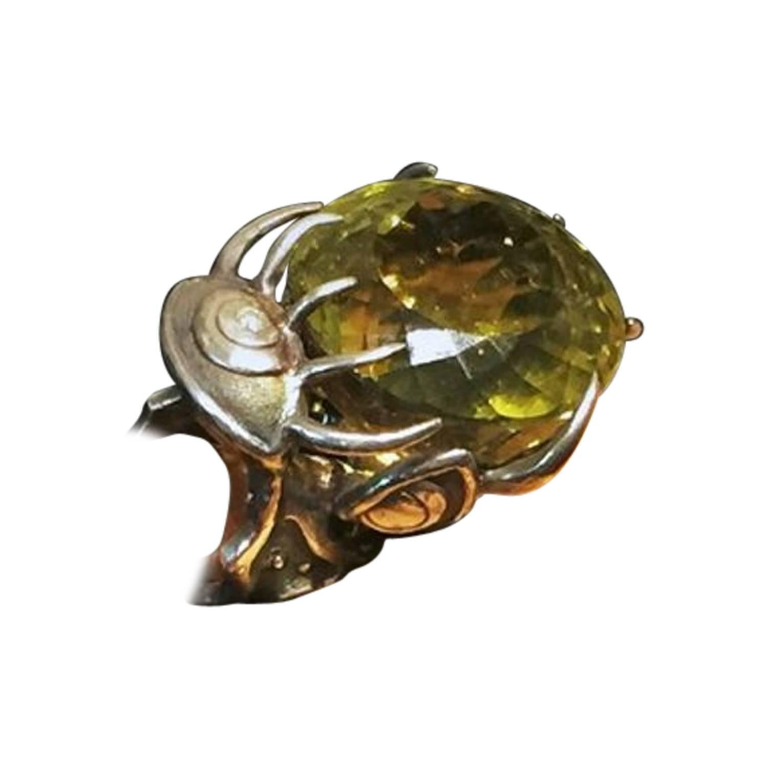 Val Stern, Evil Eye Protector, Sculptural Ring, 21st Century