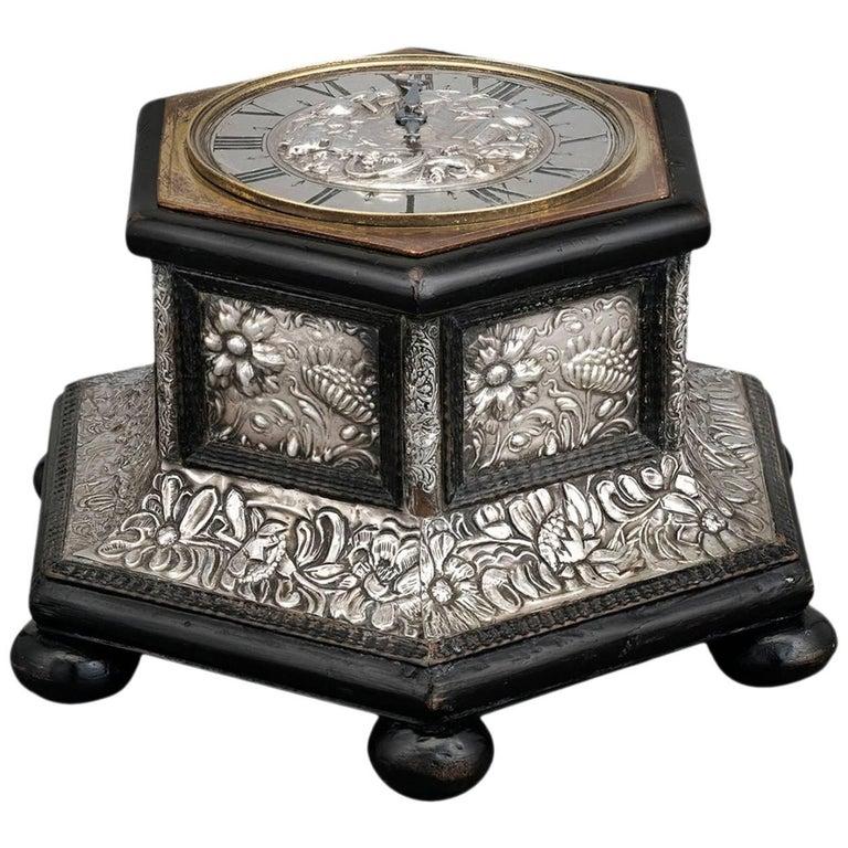 German Hexagonal Table Clock