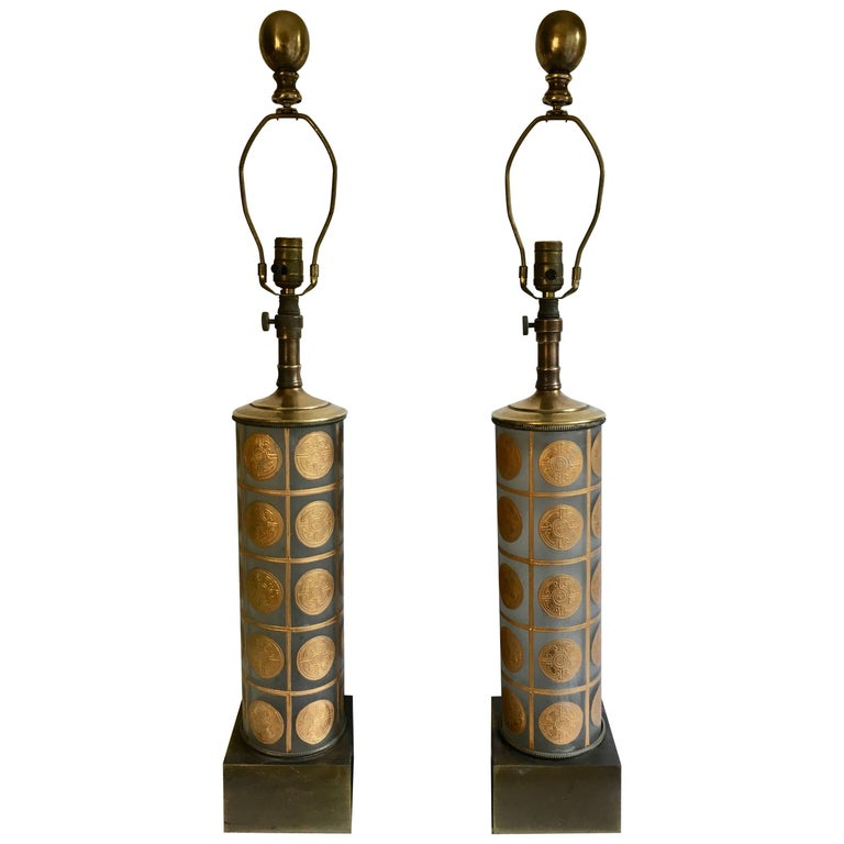 Pair of Lamps in the Manner of Versace Fornasetti