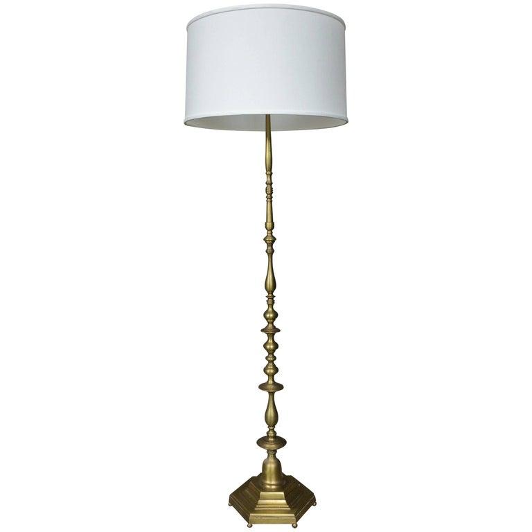1940s French Bronze Floor Lamp