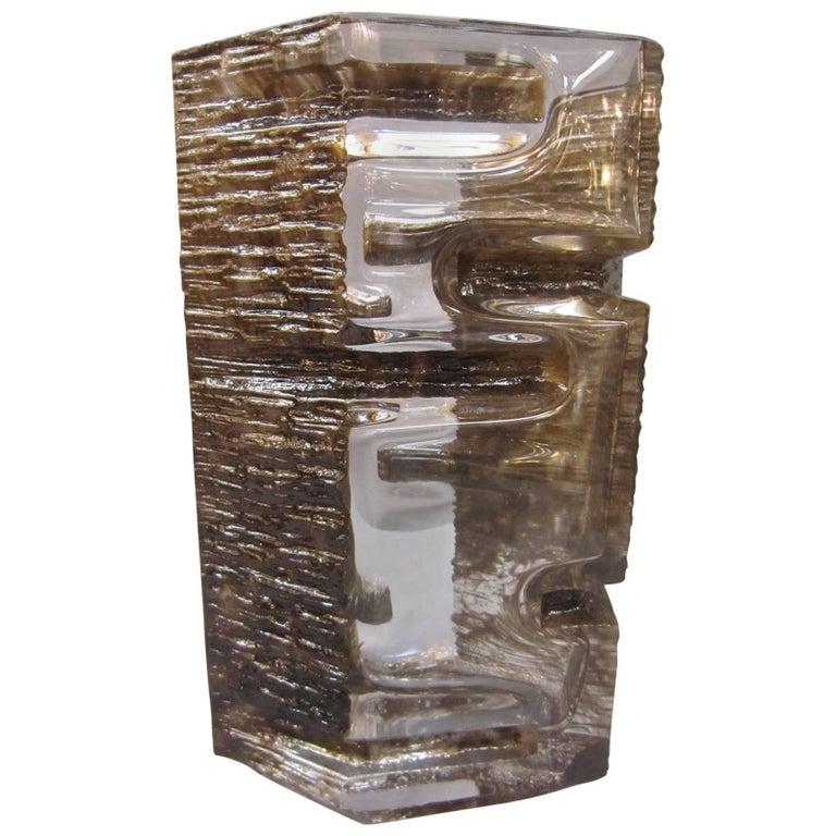 Sculptural 1970s Daum Vase by César Baldaccini For Sale