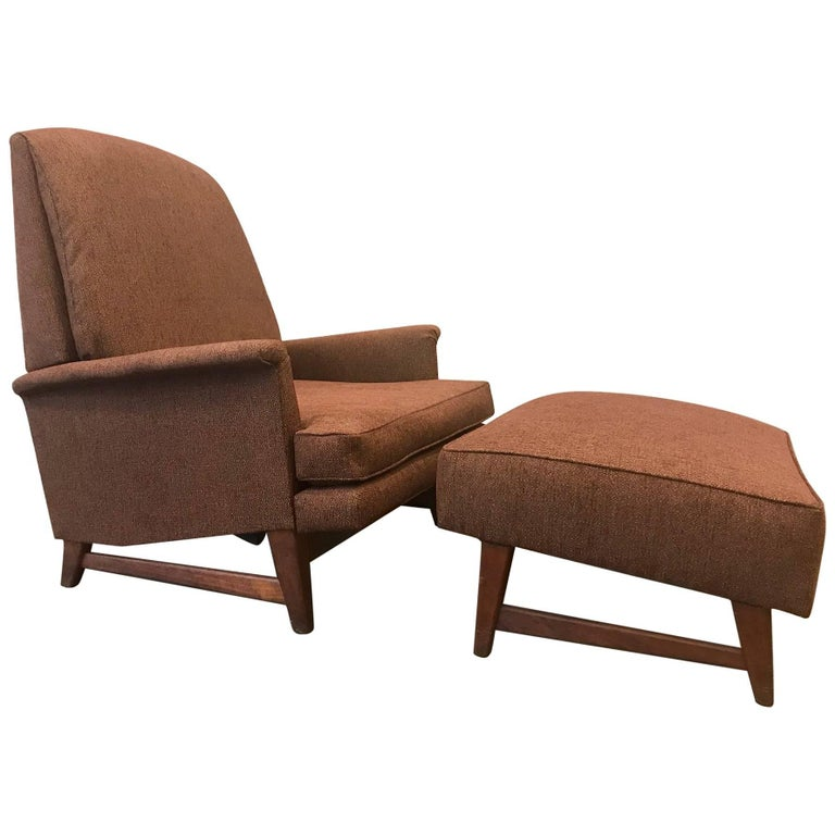 Reclining Lounge Chair And Ottoman By Selig For Sale At 1stdibs