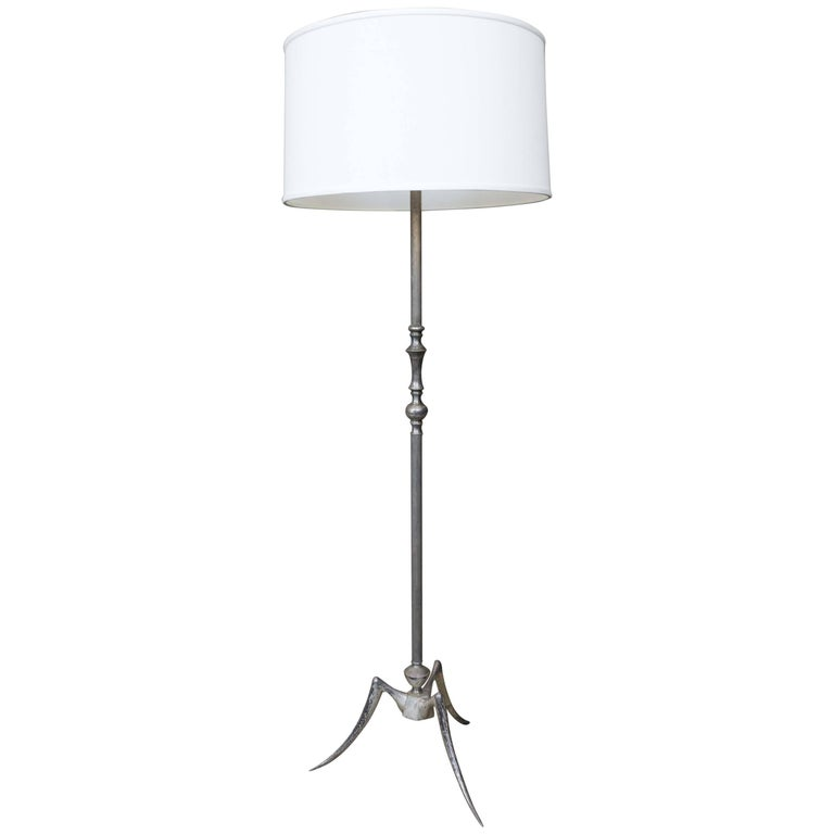 1950s French Mid Century Modern Floor Lamp For Sale