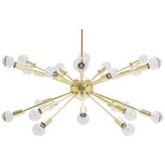 Sputnik Pendant Chandelier in Brass