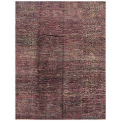 21st Century Pink Multicolored Transitional Indian Rug