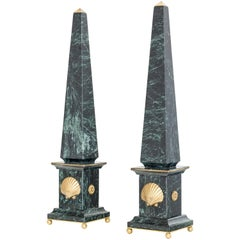 "Pair of Italian Marble and Bronze Obelisks "" Venere"", Limited Edition, 2017"