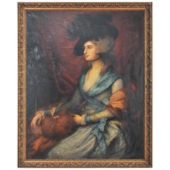 19th Century Copy of a Portrait of Mrs. Siddons Originally, Thomas Gainsborough