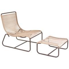 Walter Lamb Bronze Lounge Chair and Ottoman