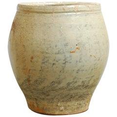 Large Glazed Terracotta Jar or Planter