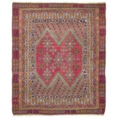 Vintage Oushak Carpet Trans Moroccan Vibe