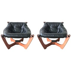 "Pair of ""Luna"" Sling Chairs by Odd Knutsen"