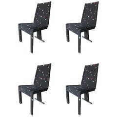 Set of Four Saporiti Postmodern Dining Chairs