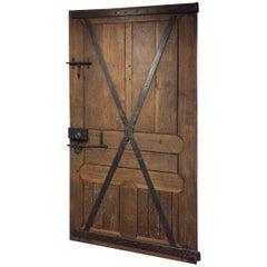 Impressive Massive Wood Antique French Castle Door