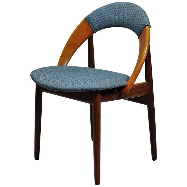 1960s Arne Hovmand-Olesen Side Chair in Teak and Fabric