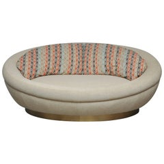 Cuddle Pod Lounge Sofa on Brushed Brass Base, circa 1970s