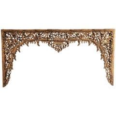 Burmese Hand Carved Arch