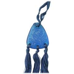"""René Lalique Blue Pendant """"Graines"""""""
