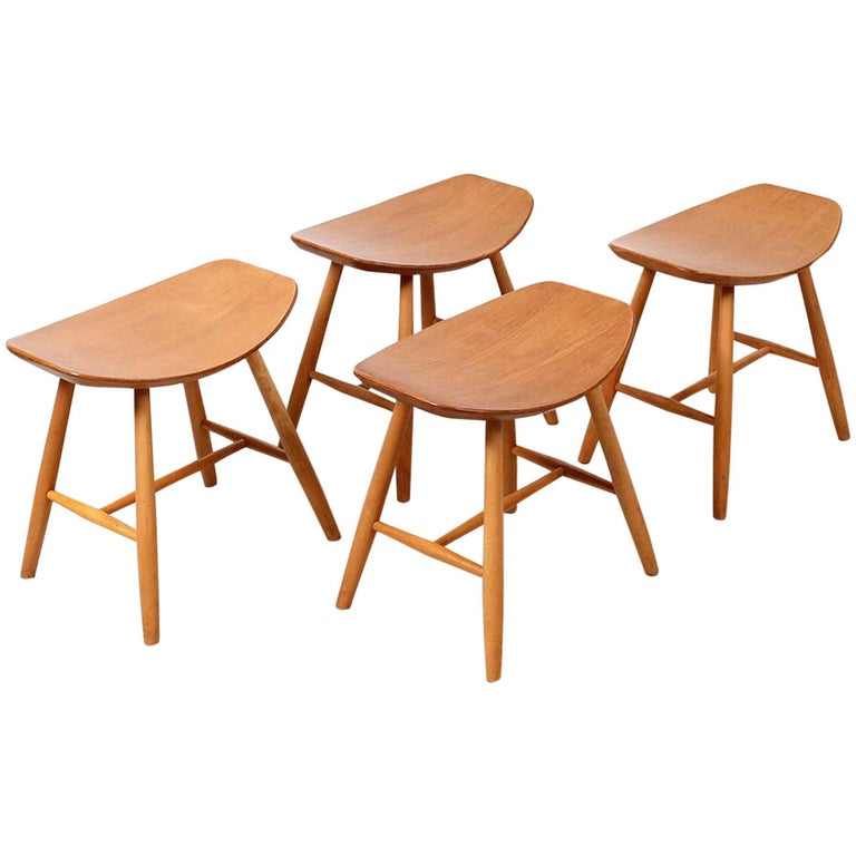 Set of Stools by Ejvind Johansson for FDB Mobler