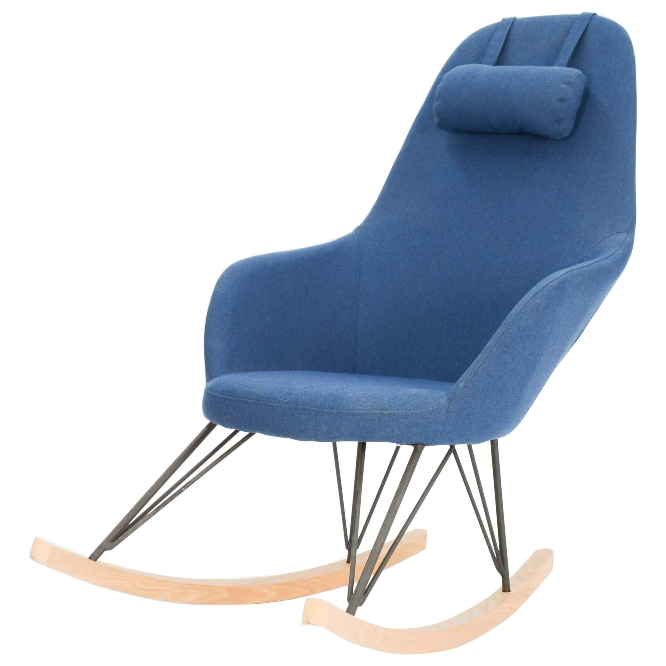 Modernist High Back Rocking Chair In The Style Of The Memphis Movement Of  Italy For Sale