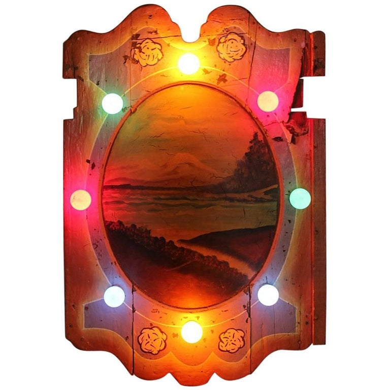 Large 1930s American Carnival Light Up Board