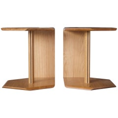 Geometric Solid Wood Reflecting Side Tables by BELLBOY
