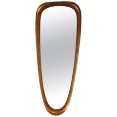 Oval Shield Mirror in Gold by La Barge